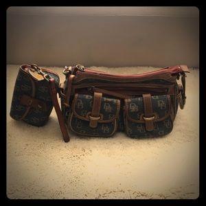 Dooney & Bourke Saddle Bag and Wristlet